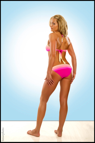 Pink Bikini Back